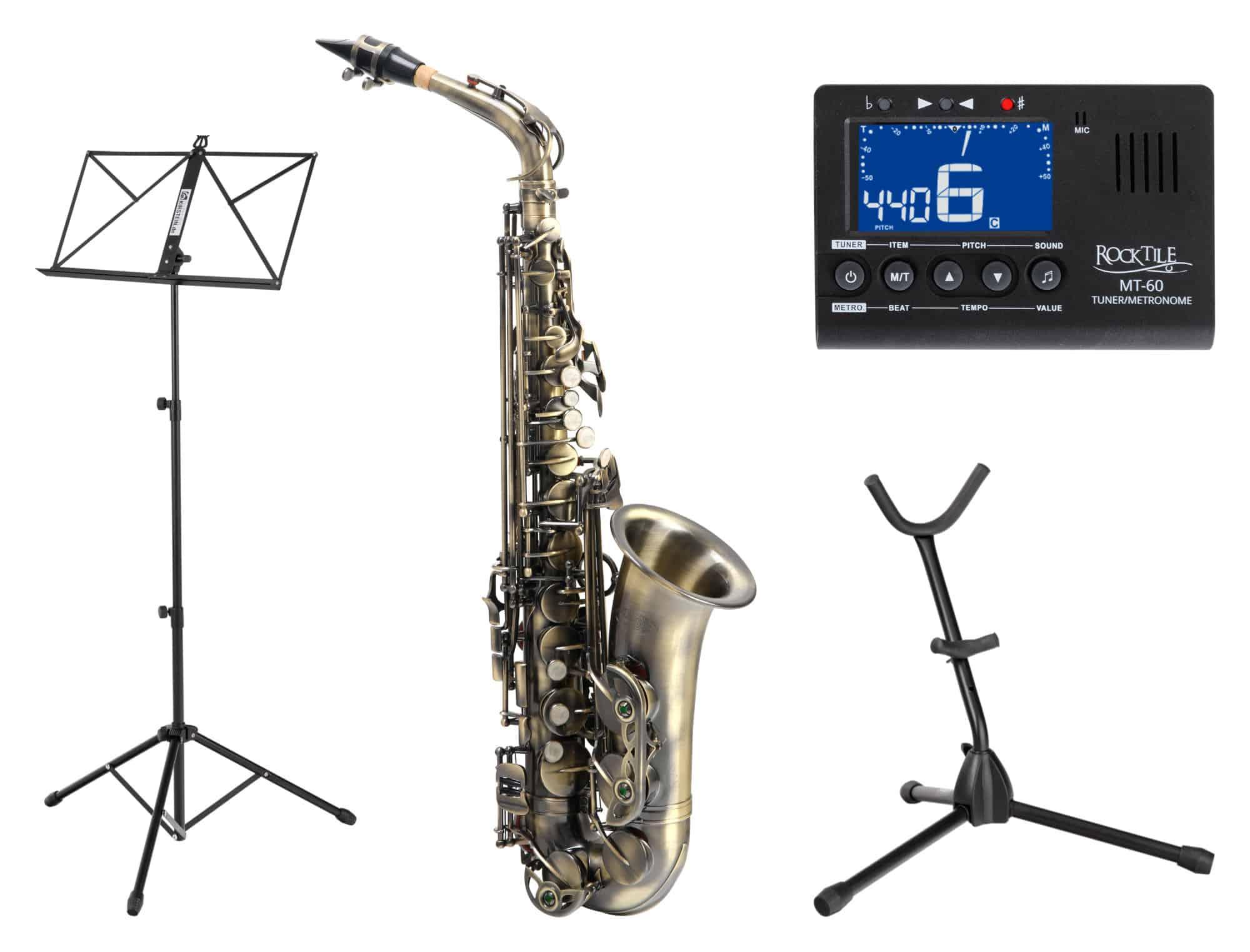 Saxophone - Classic Cantabile Winds AS 450 Antique Yellow Altsaxophon SET - Onlineshop Musikhaus Kirstein