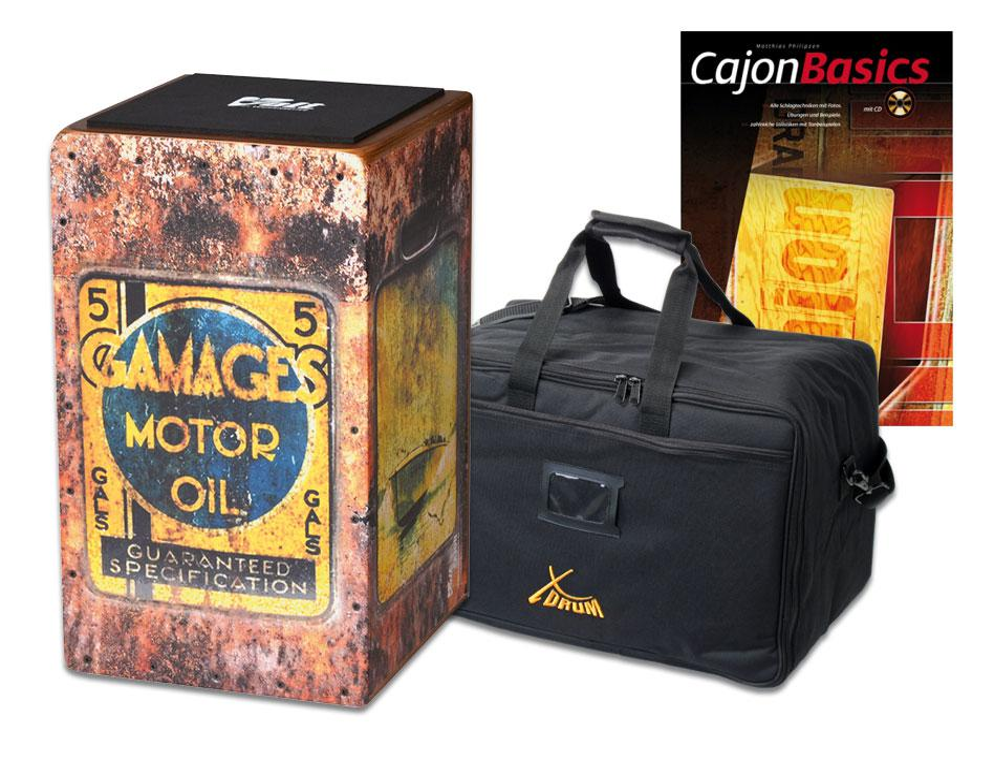 VOLT Cajon 'Motor Oil' SET inkl. Tasche