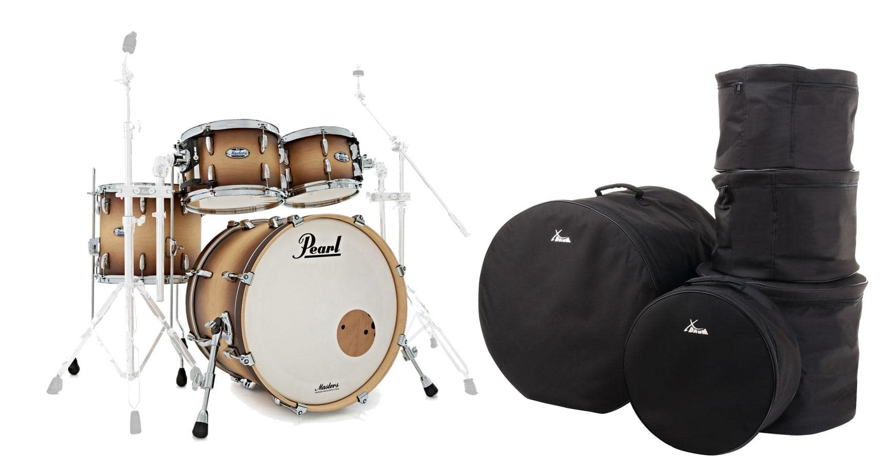 Pearl MCT924XEFP|C351 Shell Kit SNB Set inkl. Gigbags