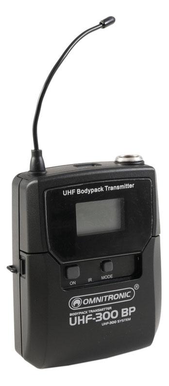 Drahtlossysteme - Omnitronic UHF 300 Taschensender 823 832|863 865MHz - Onlineshop Musikhaus Kirstein