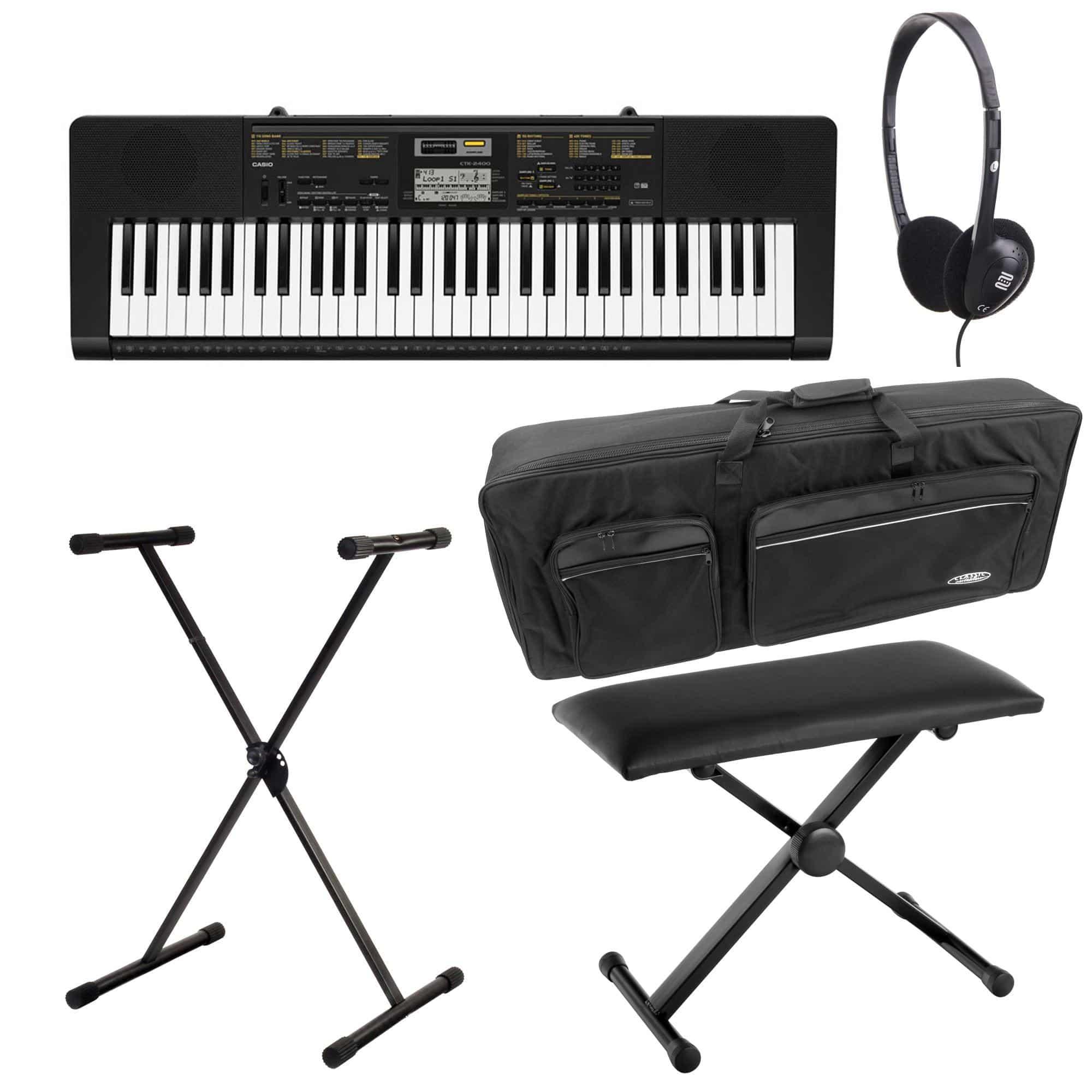 casio ctk 2400 keyboard deluxe set kirstein music shop. Black Bedroom Furniture Sets. Home Design Ideas