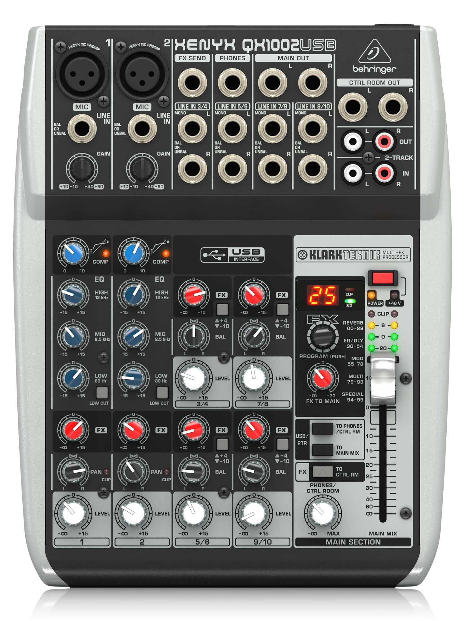 Mischpulte - Behringer XENYX QX1002 USB Mischpult - Onlineshop Musikhaus Kirstein