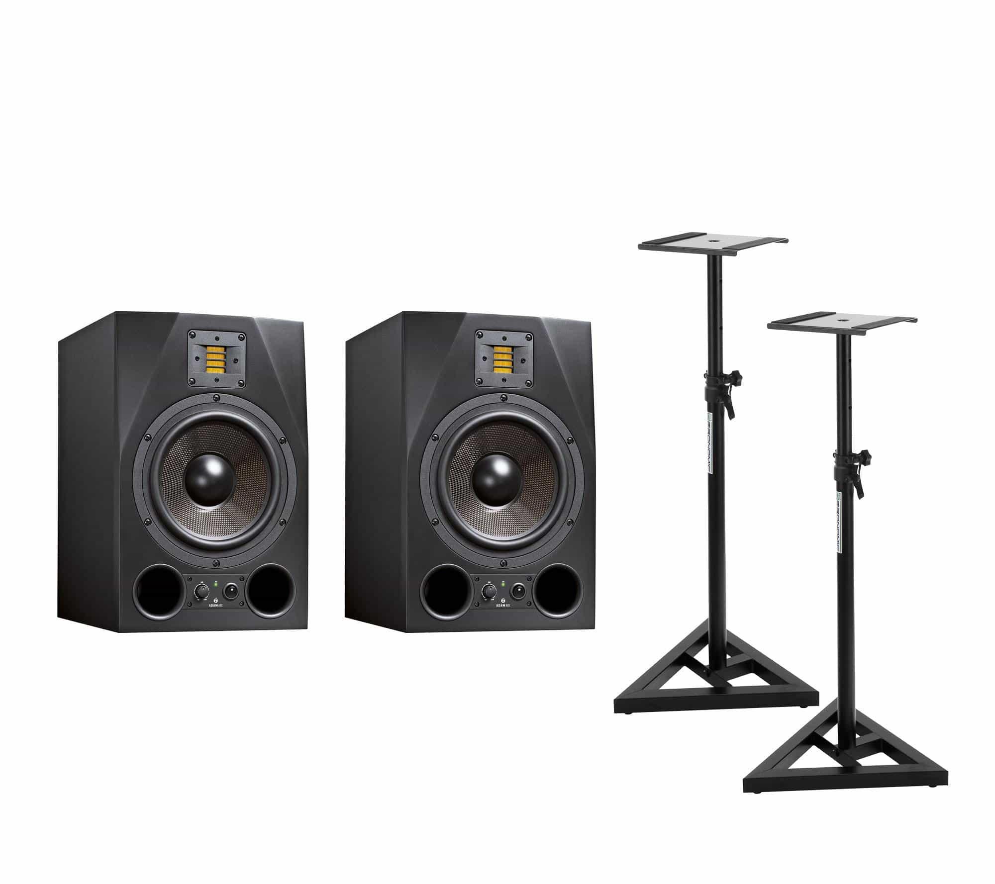 Studiomonitore - Adam Audio A8X Stativ Bundle - Onlineshop Musikhaus Kirstein