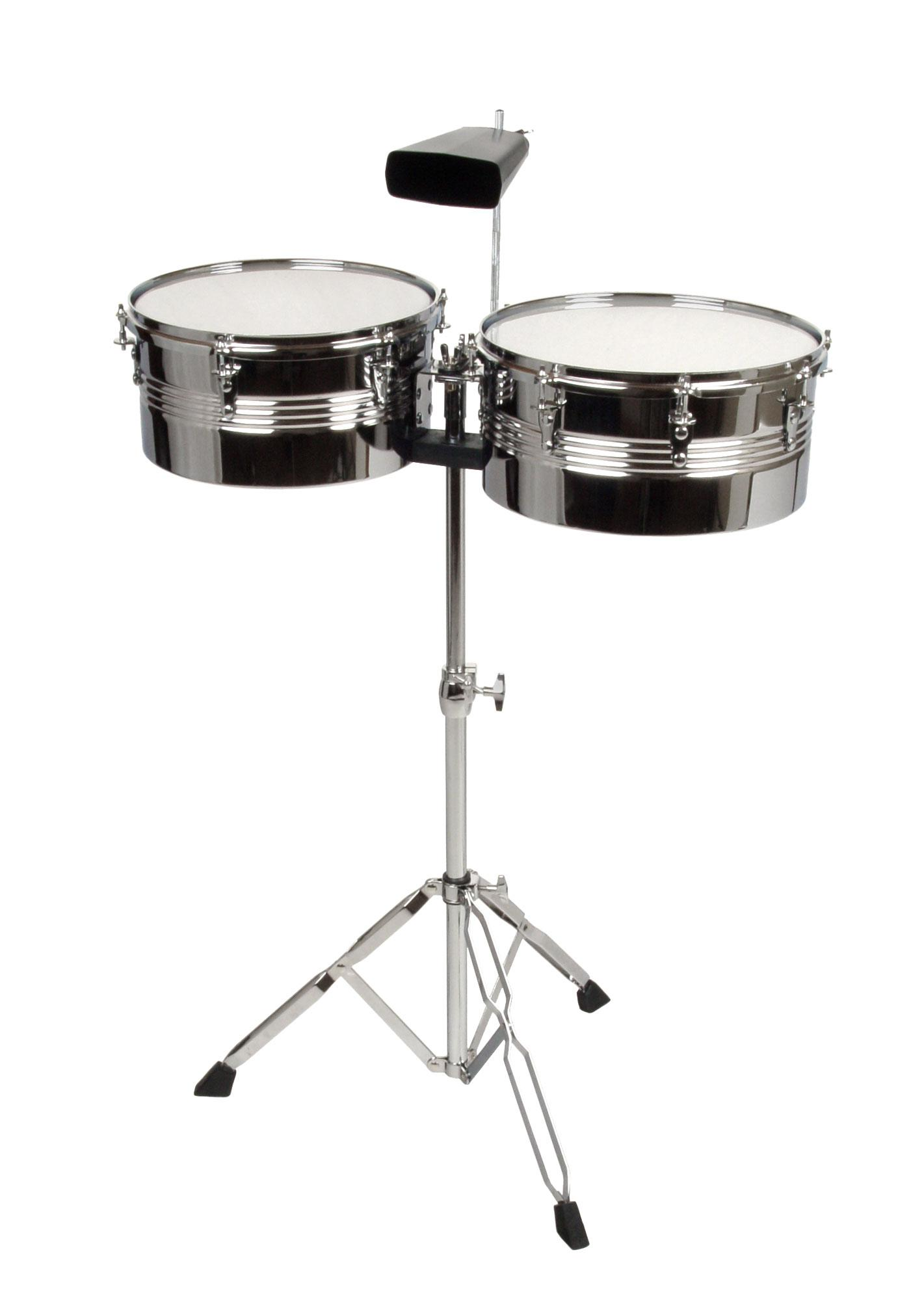 XDrum Timbales SET 13' 14' inkl. Cowbell