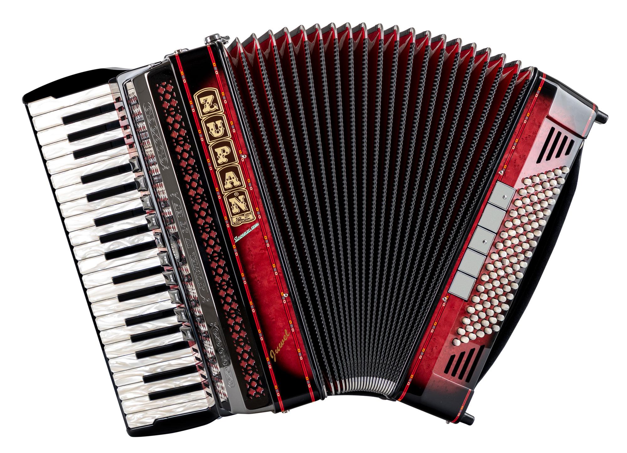 Akkordeons - Zupan Juwel IV 96 EF MHR Cassotto Akkordeon Shadow Red Retoure (Zustand wie neu) - Onlineshop Musikhaus Kirstein