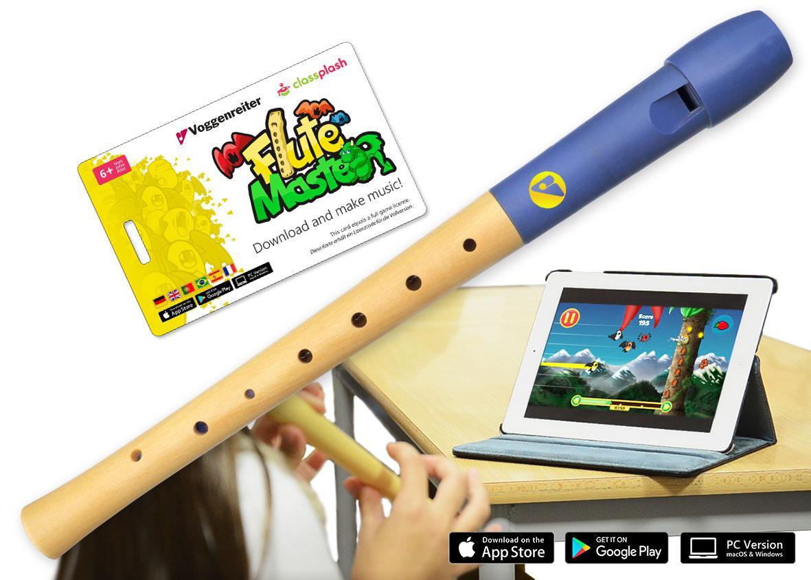 Voggenreiter Flute Master mit Blockflöte Deutsch, Holz Kunststoff