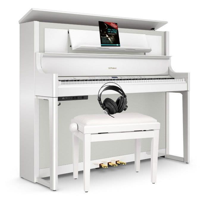 Roland LX708 PW Digitalpiano Set Weiß Hochglanz