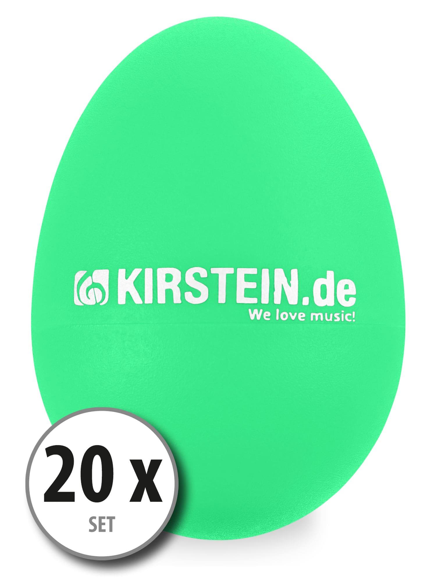 20x Kirstein ES 10G Egg Shaker grün Medium Heavy Set