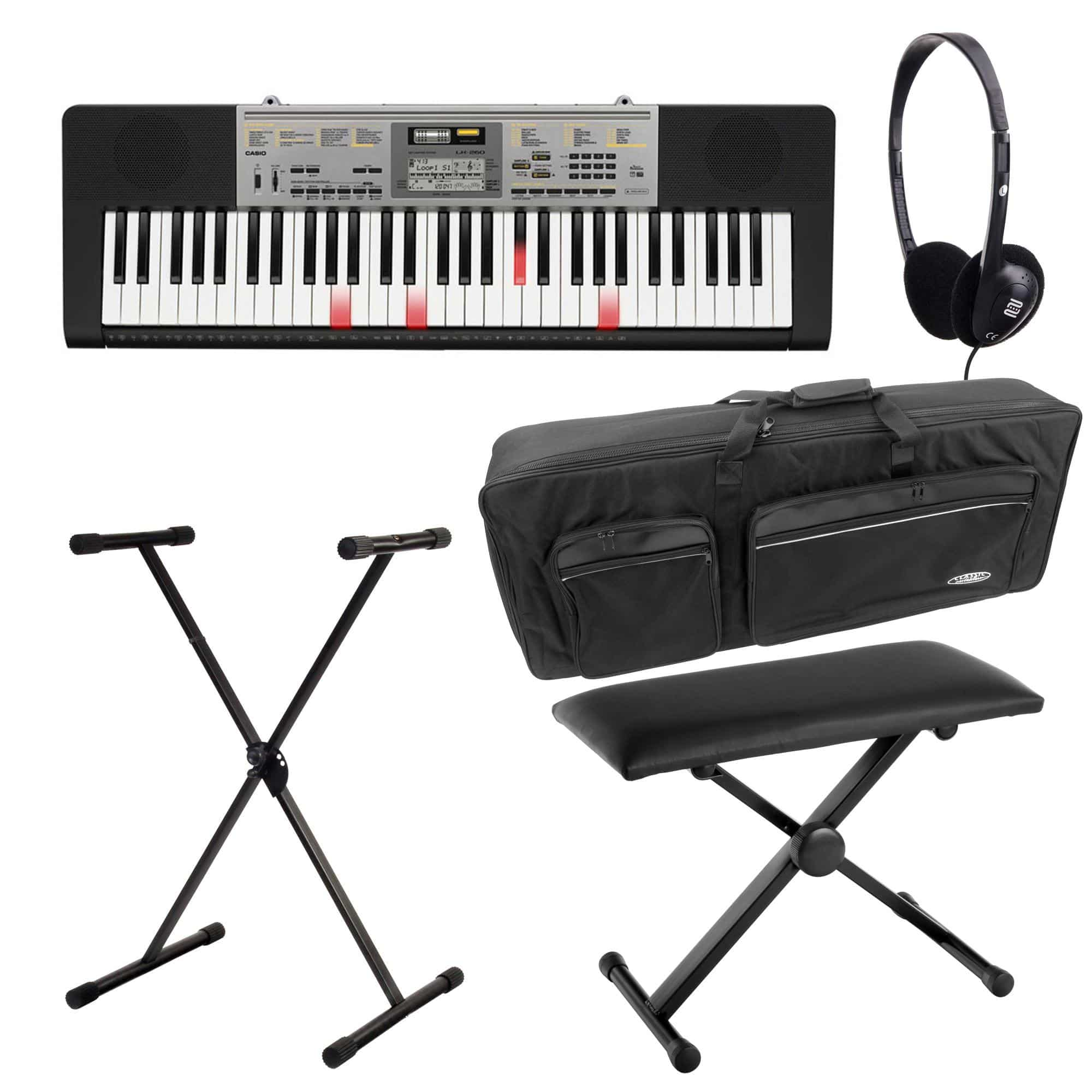 Casio LK 260 Leuchttasten Keyboard Deluxe SET