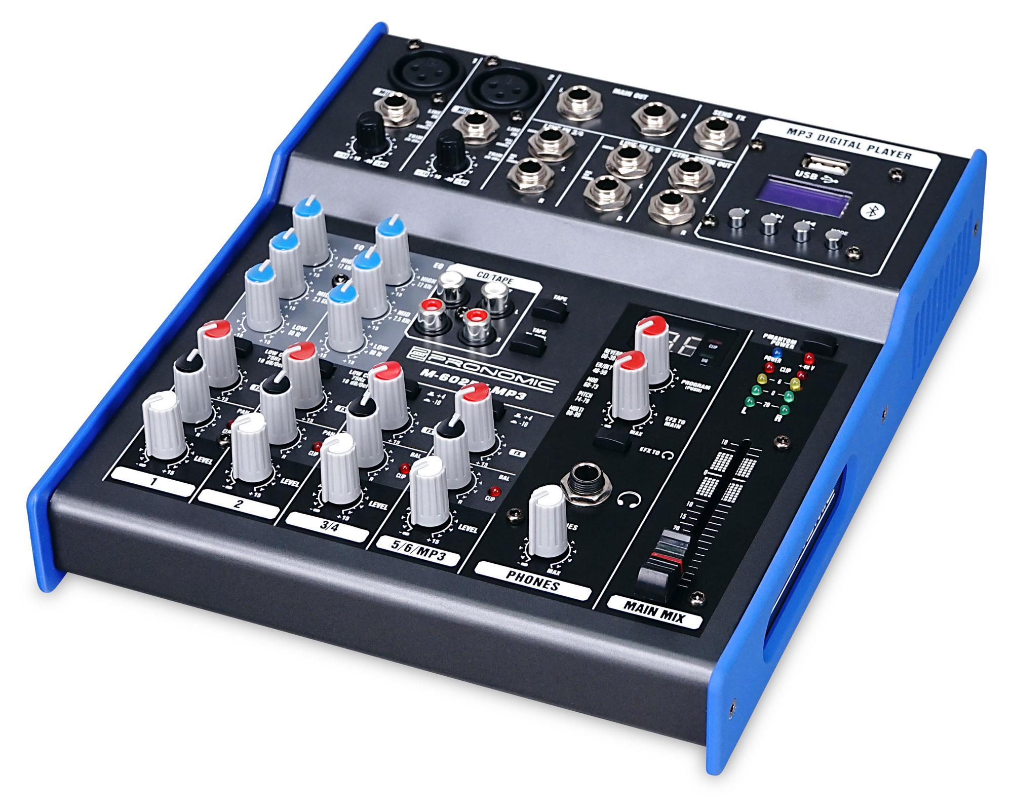 Pronomic m 602fx mp3 table de mixage - Table de mixage professionnelle studio ...