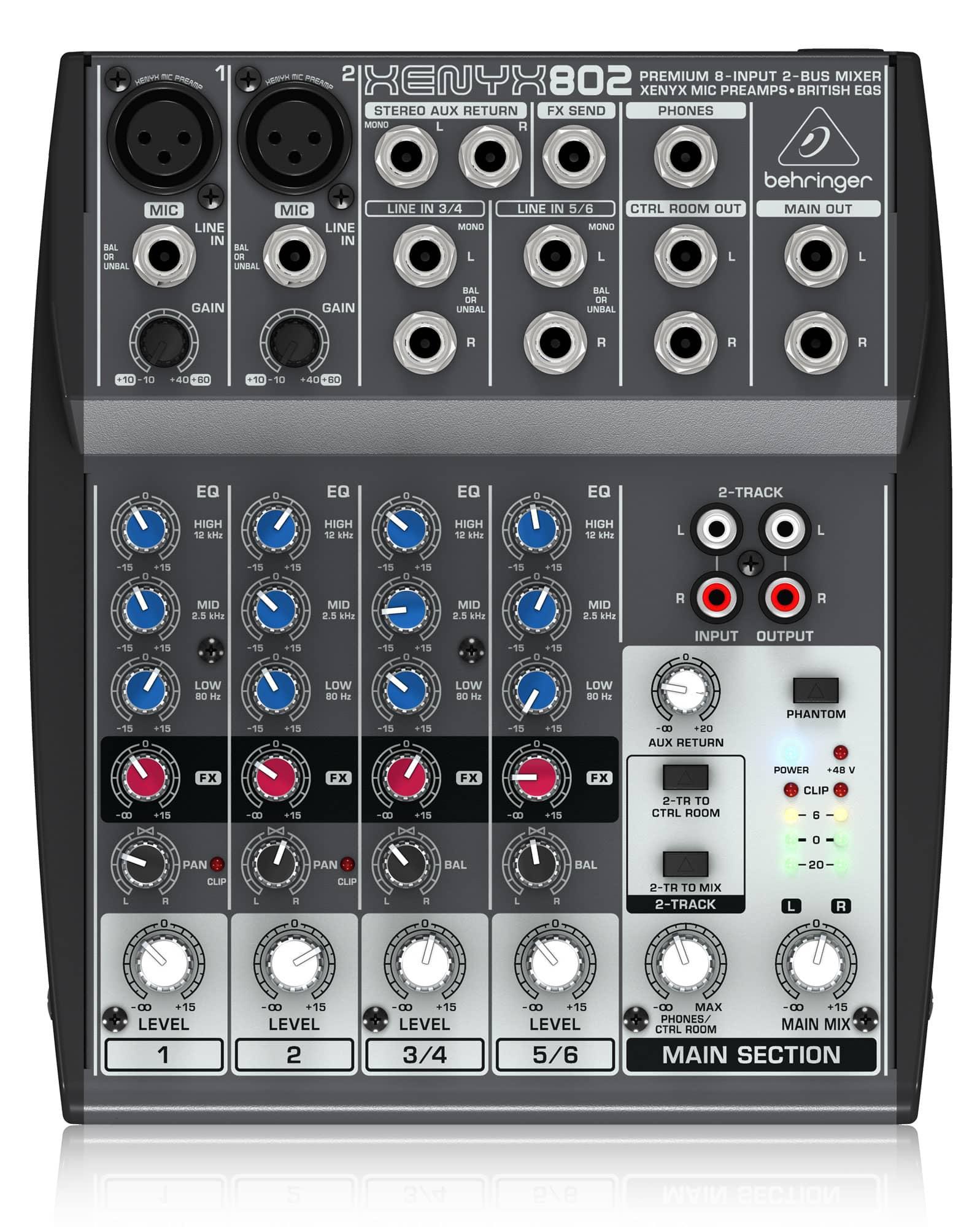 Mischpulte - Behringer Xenyx 802 Mixer - Onlineshop Musikhaus Kirstein