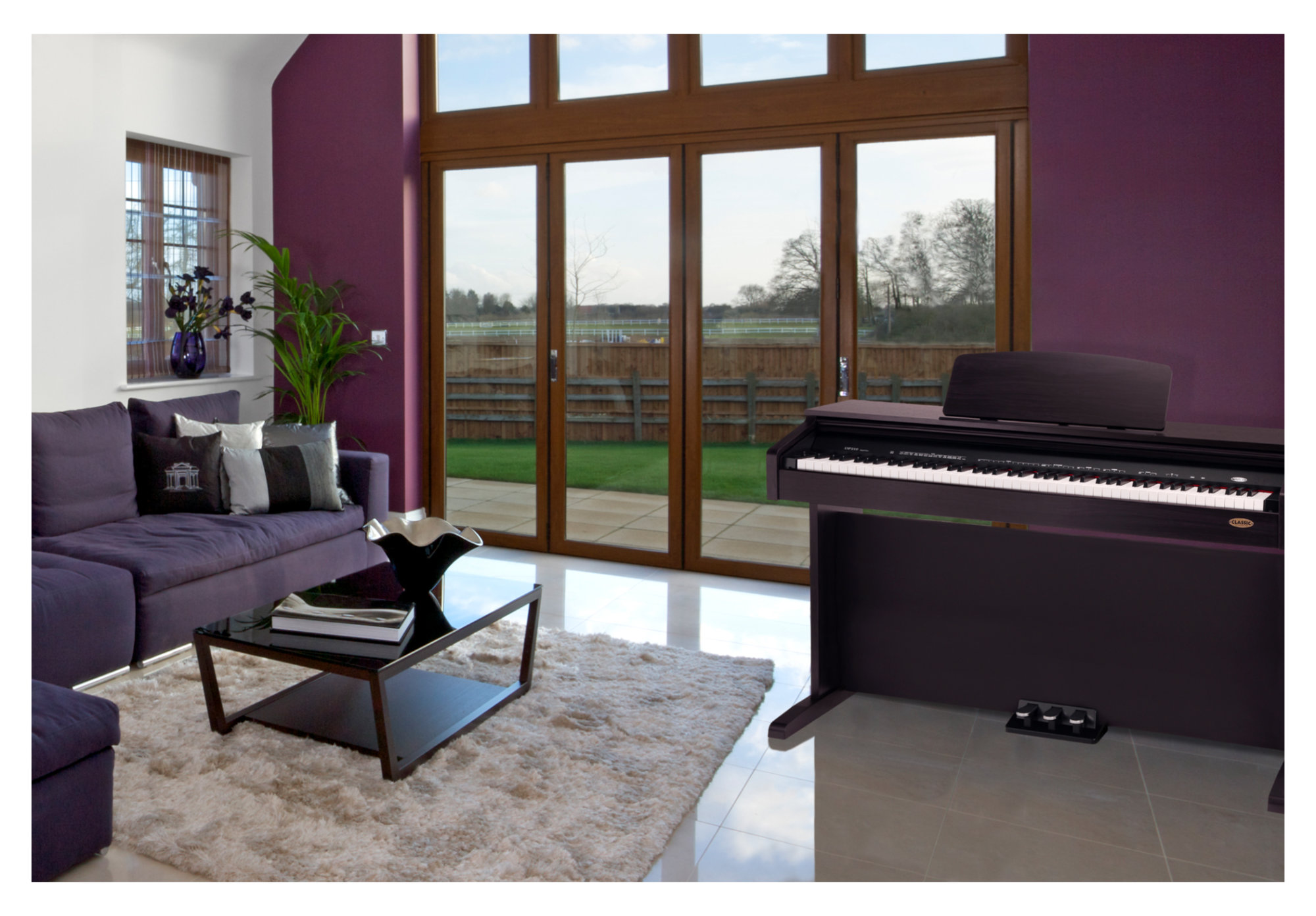 Classic cantabile dp 210 rh digital piano rosewood for Classic house piano