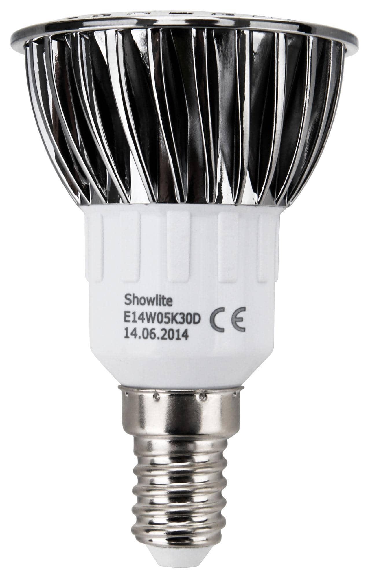 showlite led spot e14w05k30n 5 watt 330 lumen sockel e14 3000 kelvin. Black Bedroom Furniture Sets. Home Design Ideas