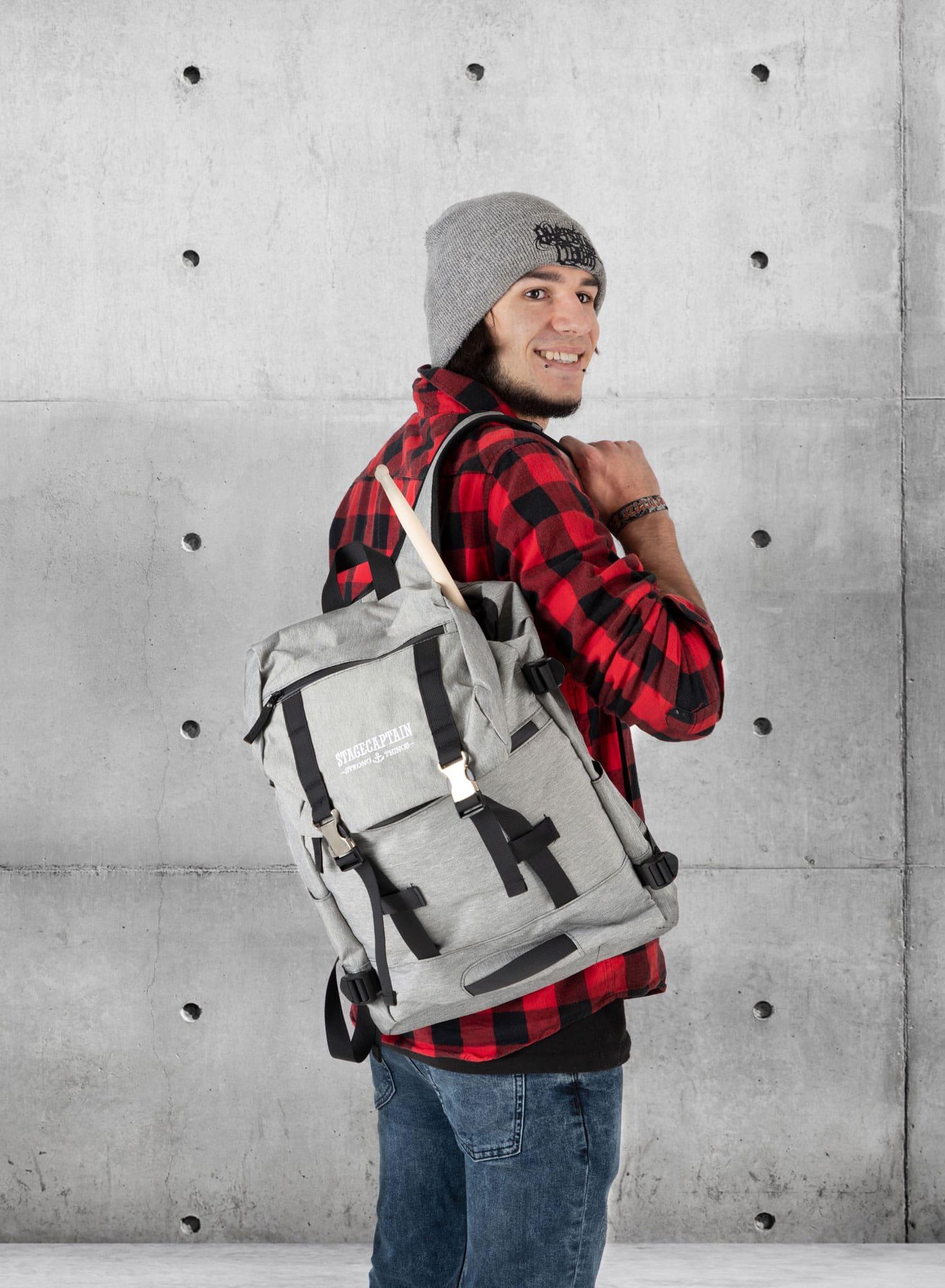 Sac-a-Dos-Backpack-Bandouliere-Ordinateur-Laptop-Ecole-Voyage-Unisexe-Gris miniature 2