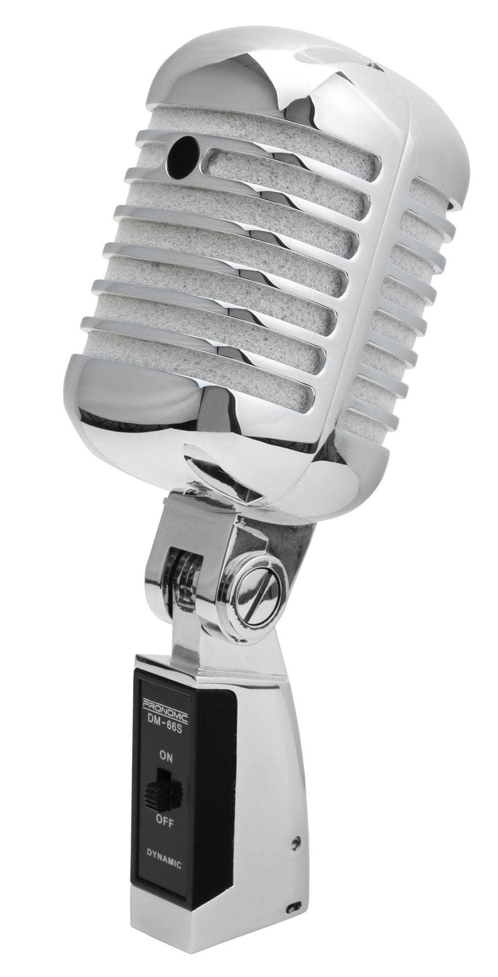 pronomic dm 66s dynamic elvis microphone silver set. Black Bedroom Furniture Sets. Home Design Ideas