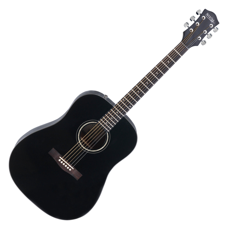 rocktile d 60 acoustic guitar black set including accessories set. Black Bedroom Furniture Sets. Home Design Ideas