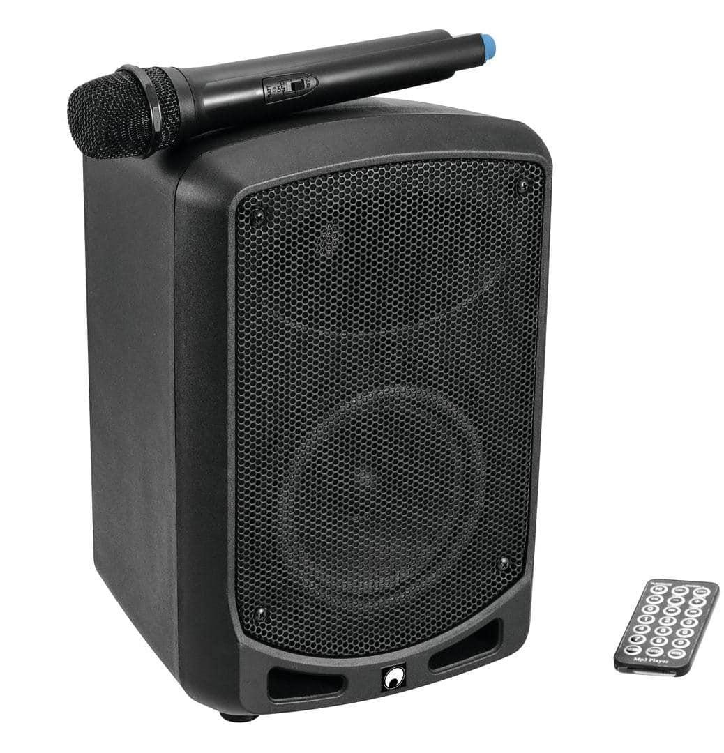 omnitronic wams 065bt wireless aktivbox im set mit akku. Black Bedroom Furniture Sets. Home Design Ideas