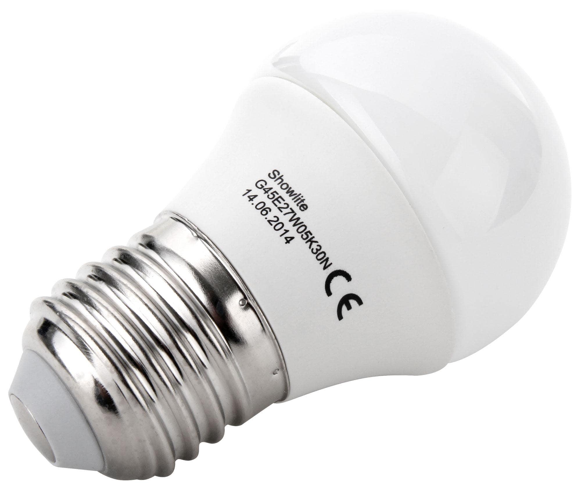 showlite led bulb g45e27w05k30n 5 watts 300 lumens e27. Black Bedroom Furniture Sets. Home Design Ideas