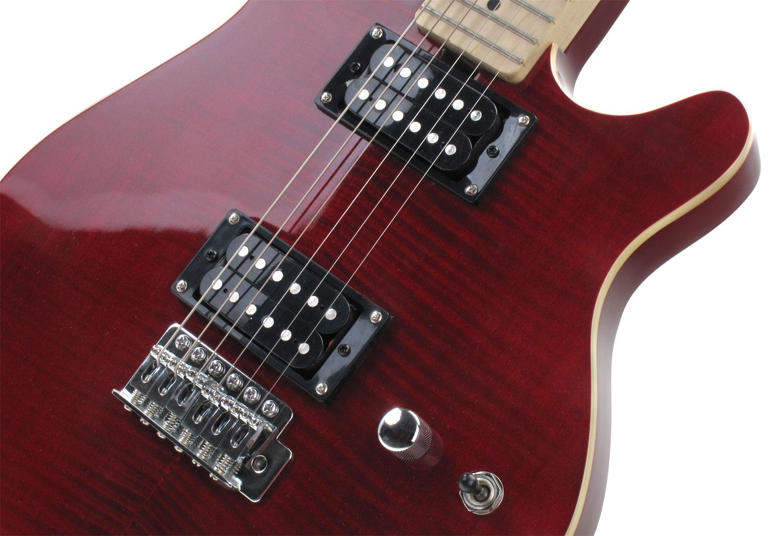 rocktile per mm150 tr electric guitar transparent red with accessories. Black Bedroom Furniture Sets. Home Design Ideas