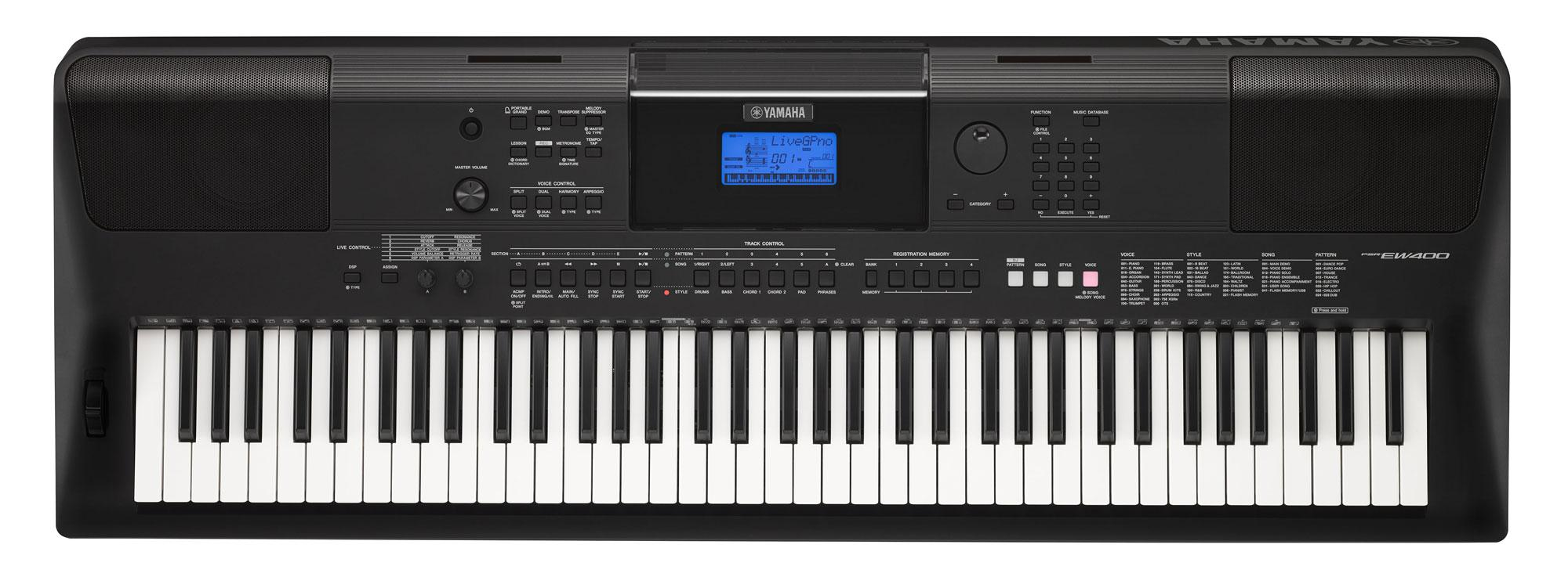 yamaha psr ew 400 keyboard mit 76 tasten set mit st nder kopfh rer noten. Black Bedroom Furniture Sets. Home Design Ideas