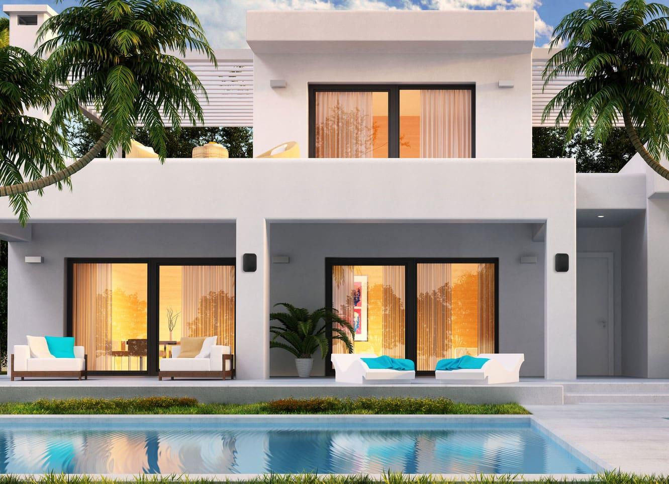 paar pronomic ols 5 bk outdoor lautsprecher schwarz 2 x. Black Bedroom Furniture Sets. Home Design Ideas