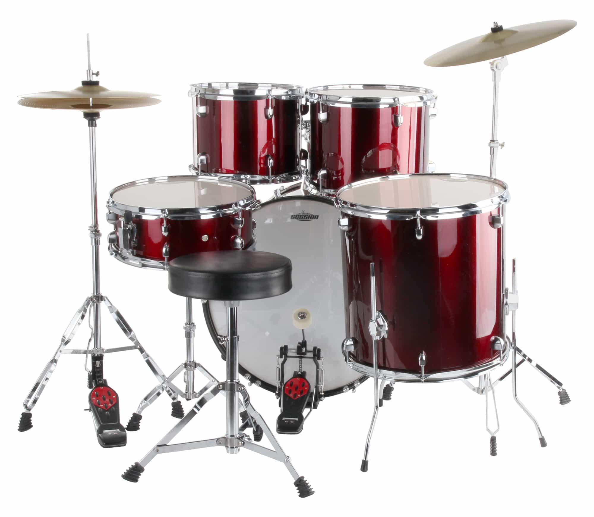 Semi Xdrum 20 Quot Studio Drum Set Red