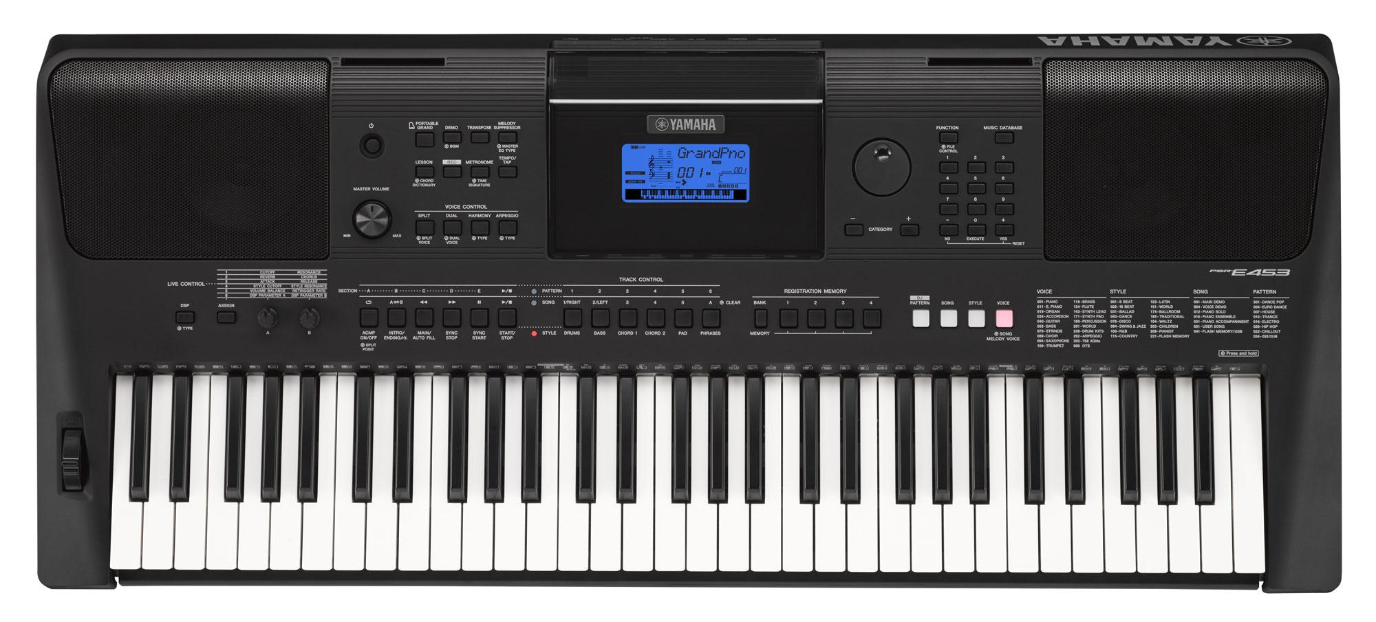 yamaha psr e453 keyboard set. Black Bedroom Furniture Sets. Home Design Ideas