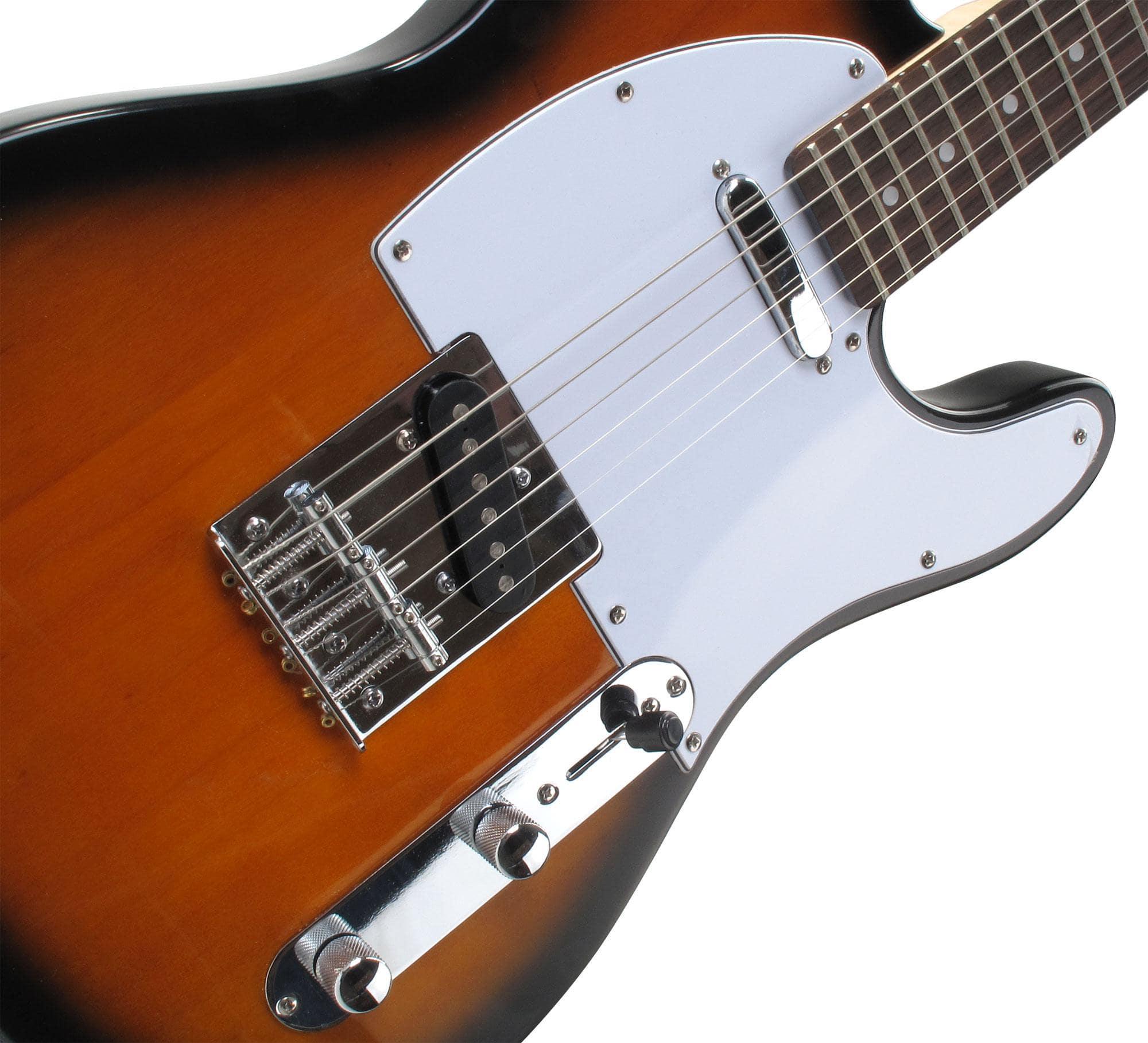 rocktile per tl100 sb electric guitar 2 tone sunburst with accessories. Black Bedroom Furniture Sets. Home Design Ideas