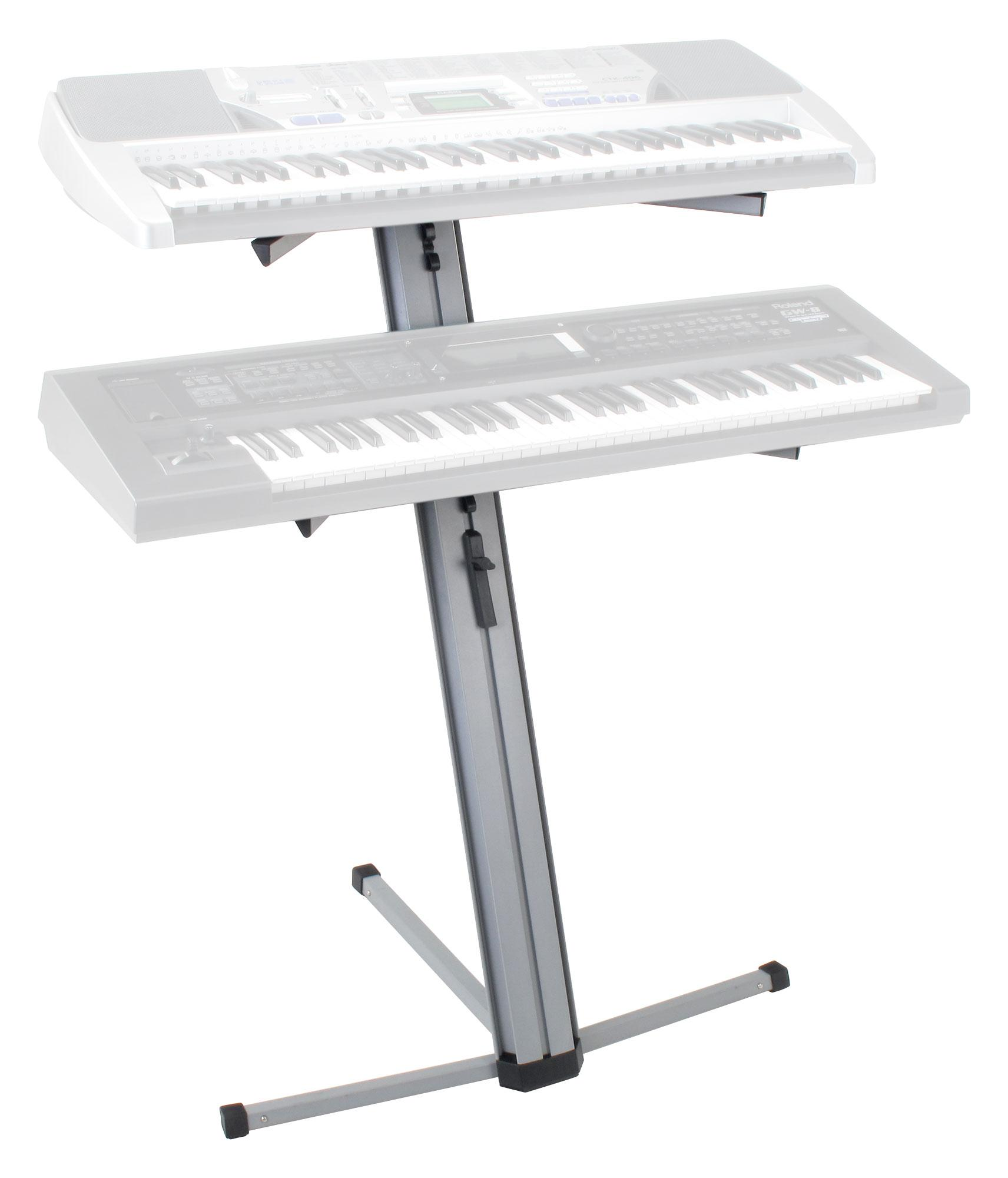 Classic cantabile ks 100 double keyboard stand silver for Stand 2 b