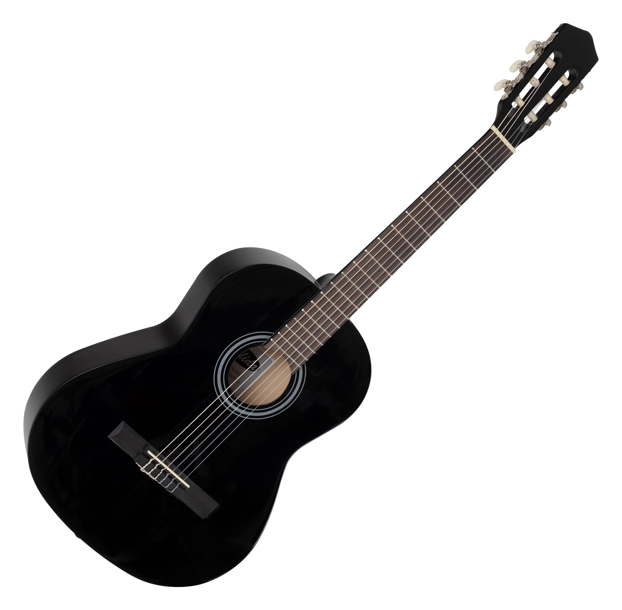 calida benita concert guitar set 7 8 black with accessories. Black Bedroom Furniture Sets. Home Design Ideas