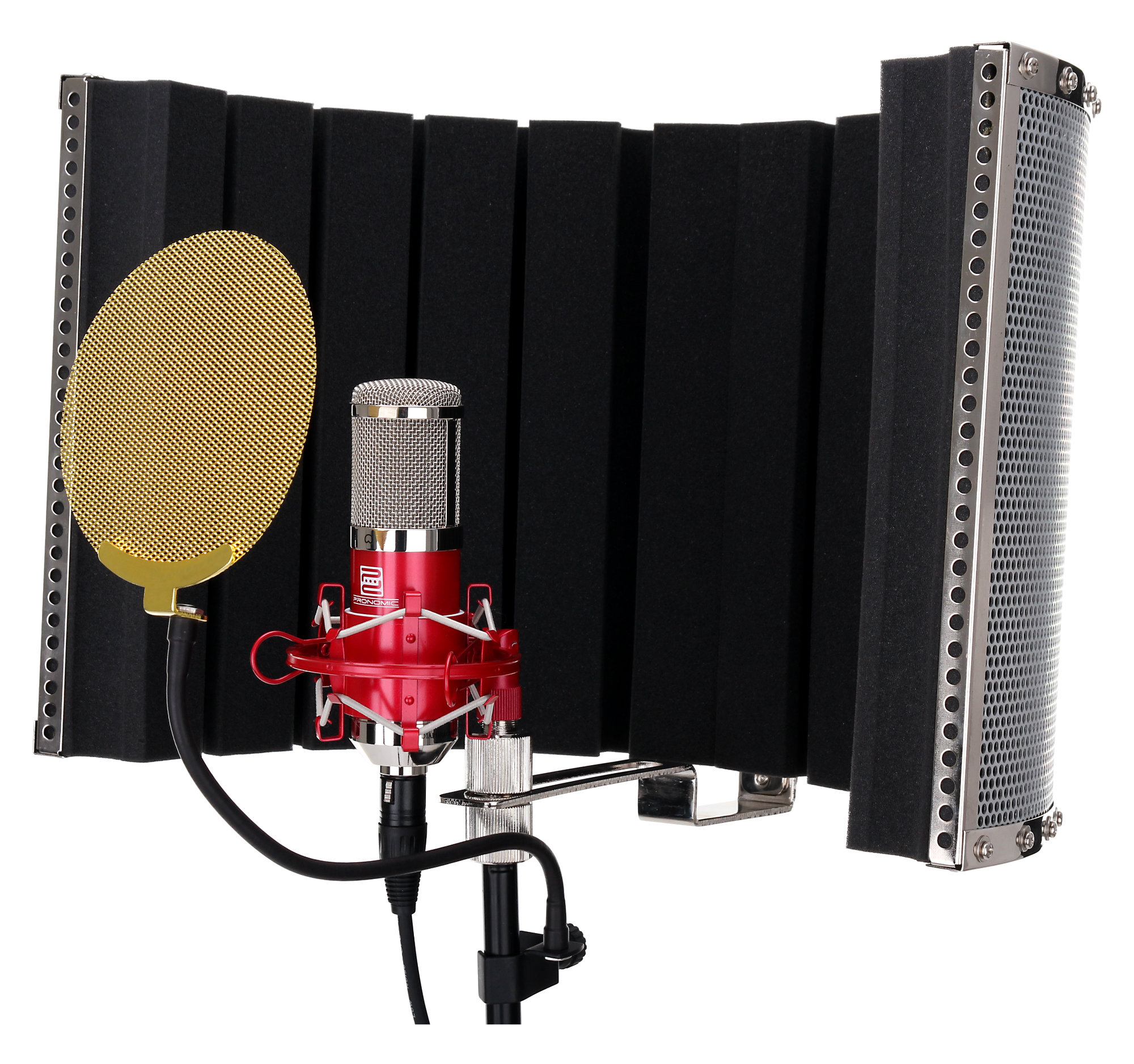 Pronomic Cm 100r Large Membrane Microphone Set Incl Stand