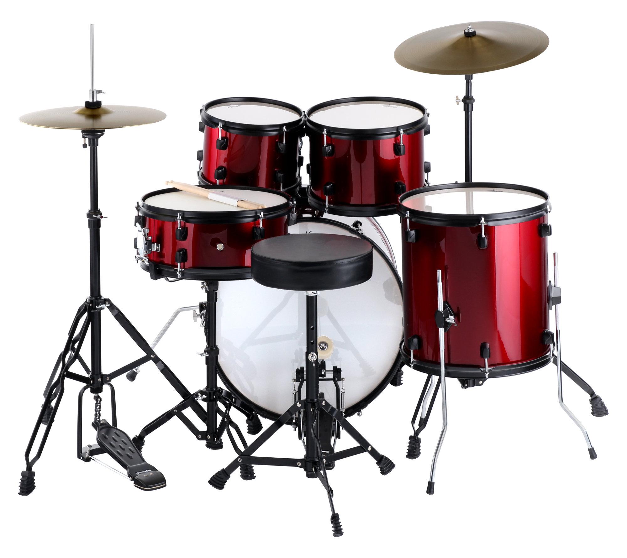 Xdrum Rookie 20 Quot Studio Drum Red Plus Damper Set