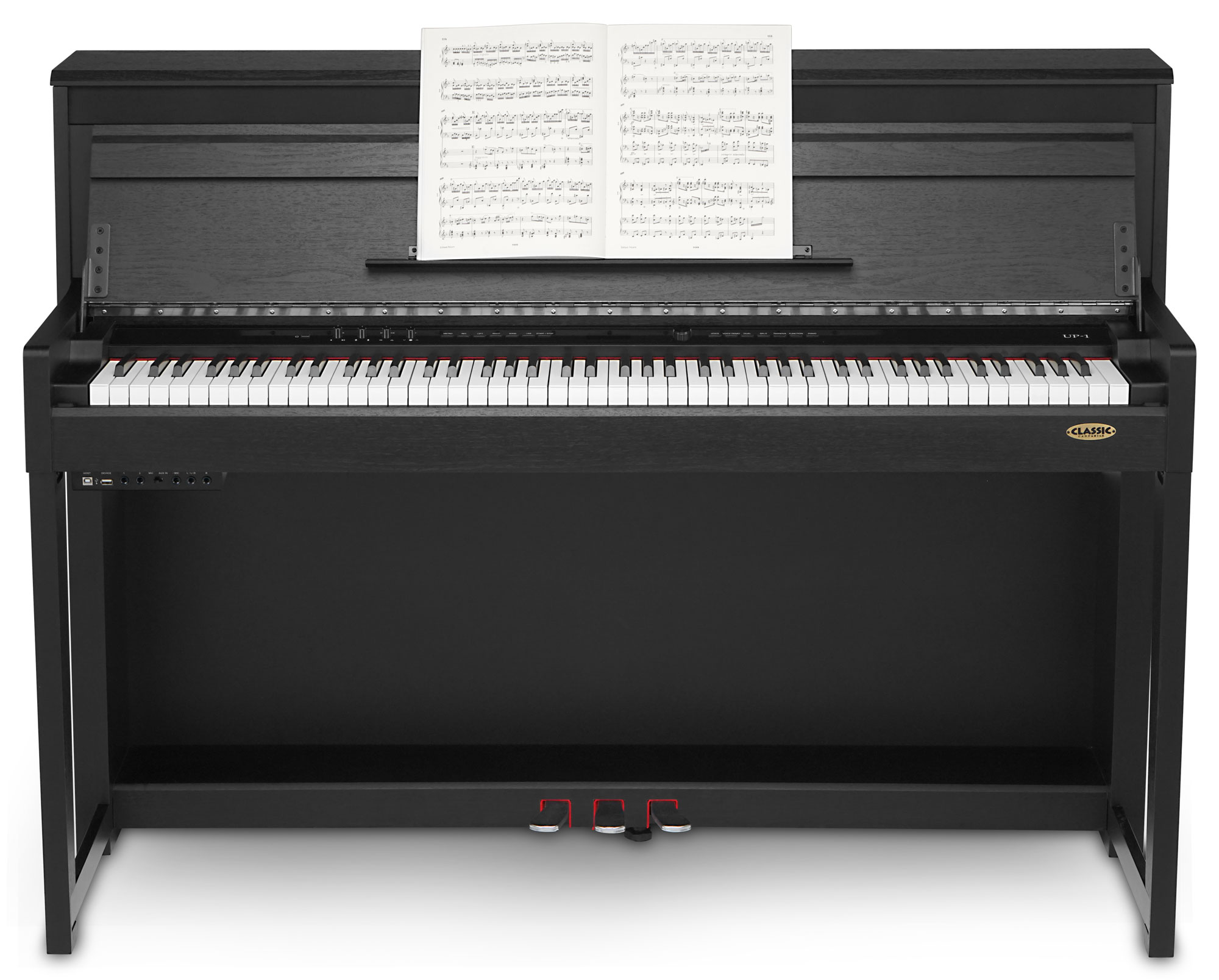 Classic Cantabile Up 1 Sm Upright E Piano Black Matte