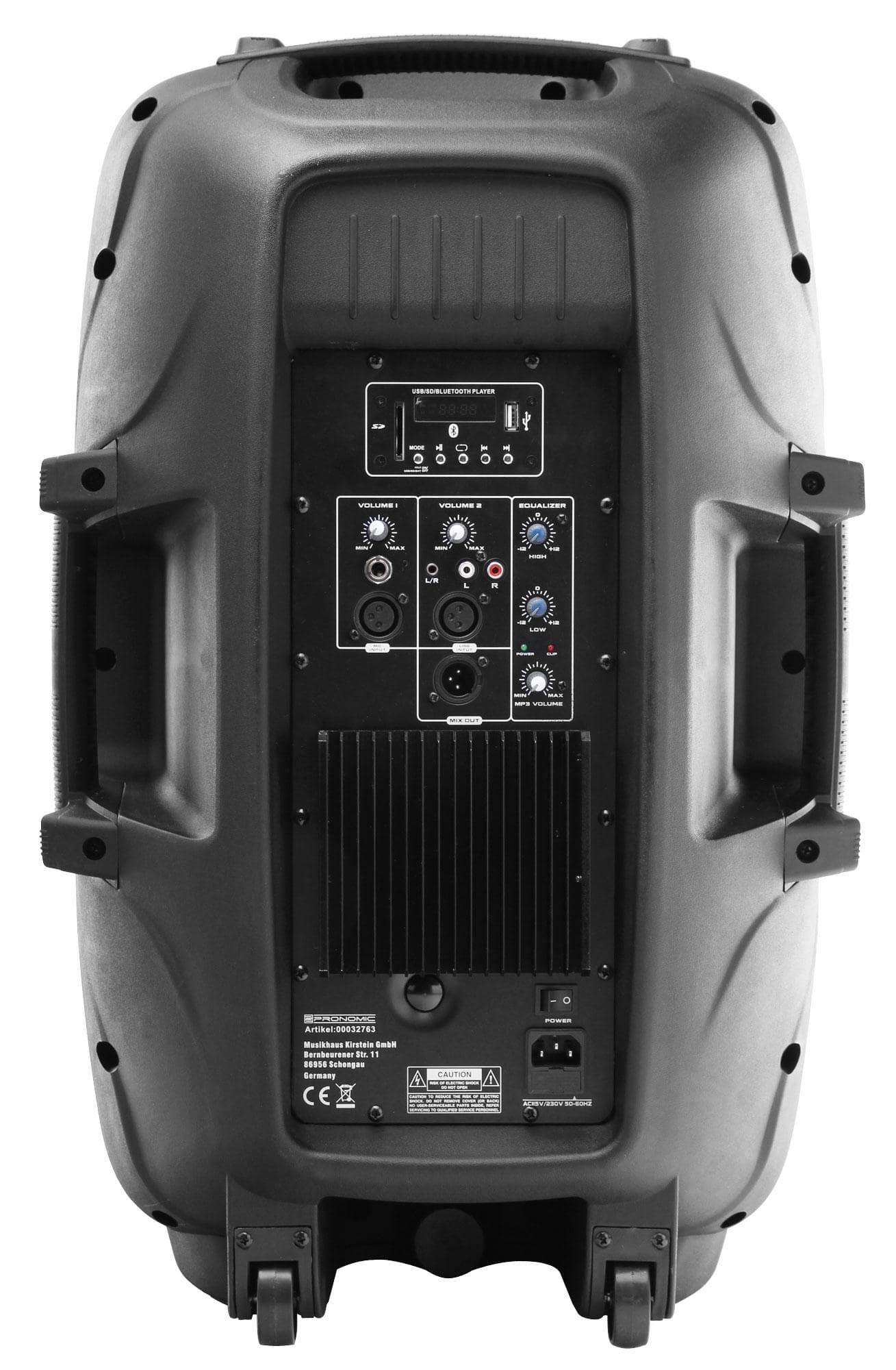 Pronomic Ph15a Active Speaker Mp3 Bluetooth 200 350 Watt