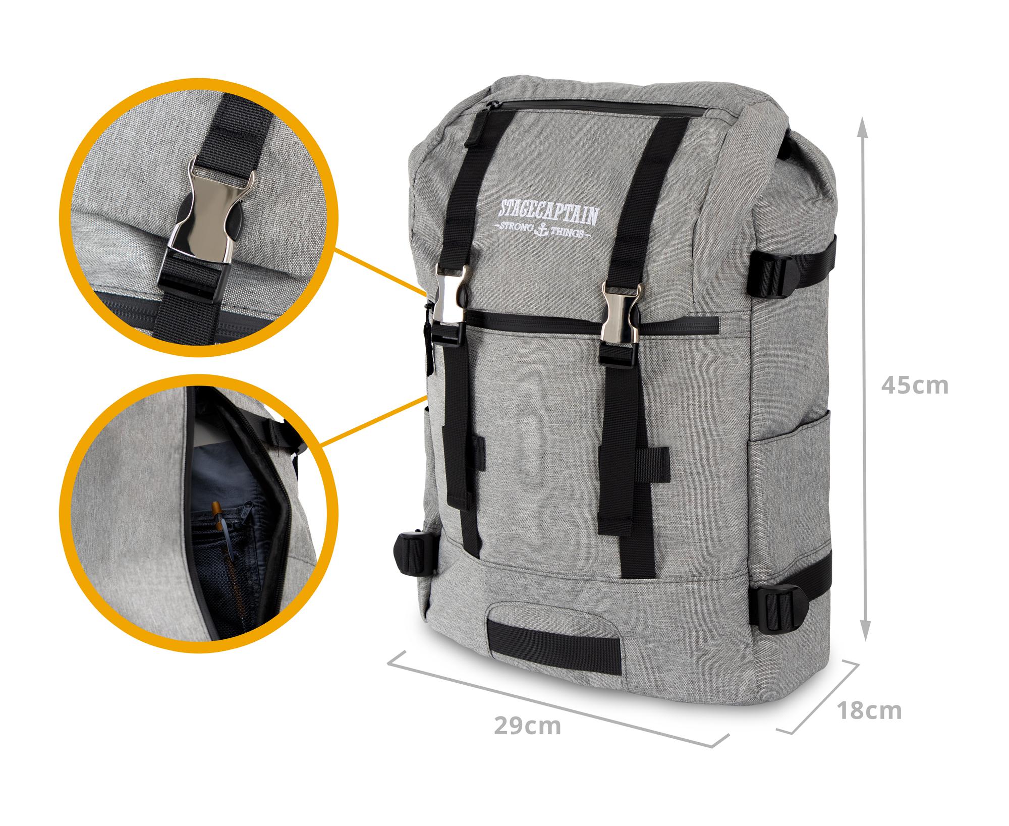 Sac-a-Dos-Backpack-Bandouliere-Ordinateur-Laptop-Ecole-Voyage-Unisexe-Gris miniature 3