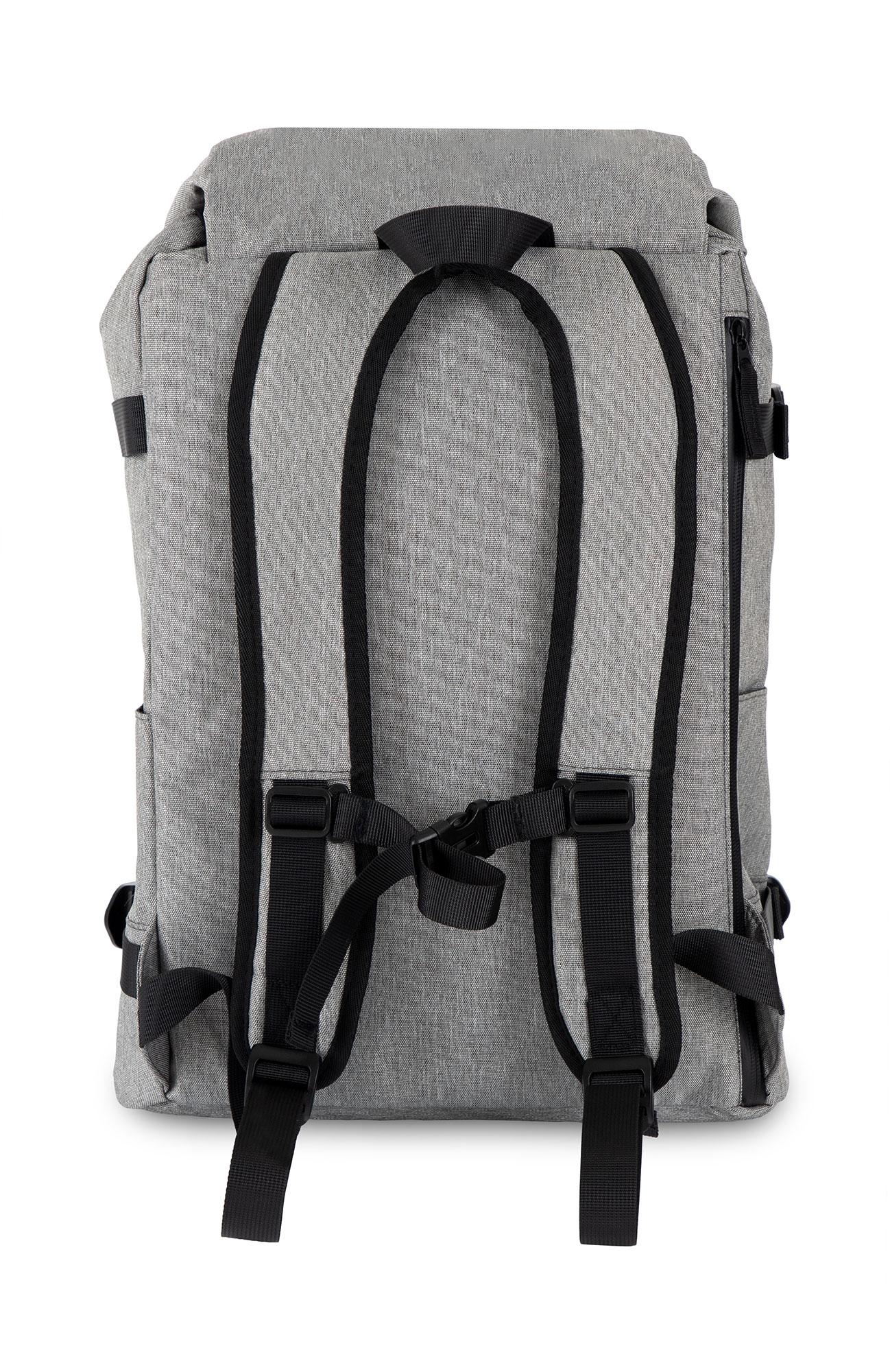 Sac-a-Dos-Backpack-Bandouliere-Ordinateur-Laptop-Ecole-Voyage-Unisexe-Gris miniature 4