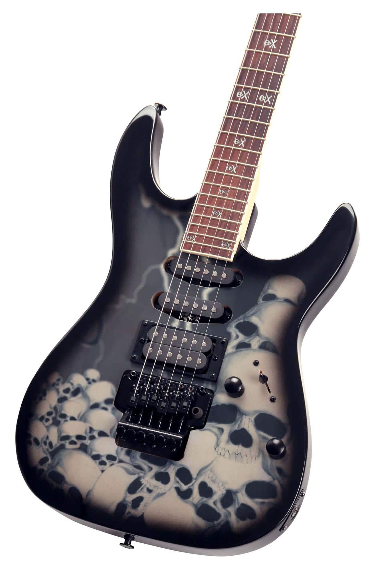 rocktile pro jk150f bsk electric guitar skull. Black Bedroom Furniture Sets. Home Design Ideas