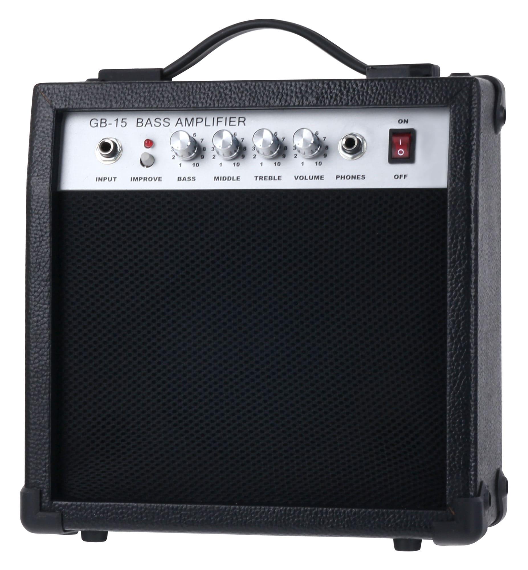 Rocktile afinador Rocktile pack Groovers PB E-Bass Set II Black Groovers Pack soporte