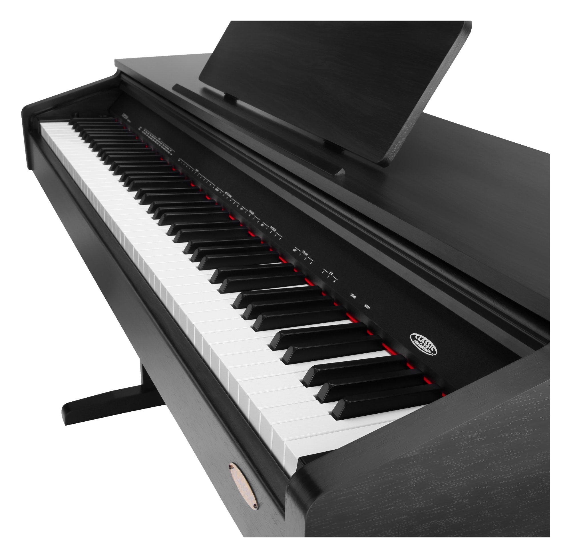 Classic cantabile dp 210 rh piano electrique noir mat set for Piano electrique