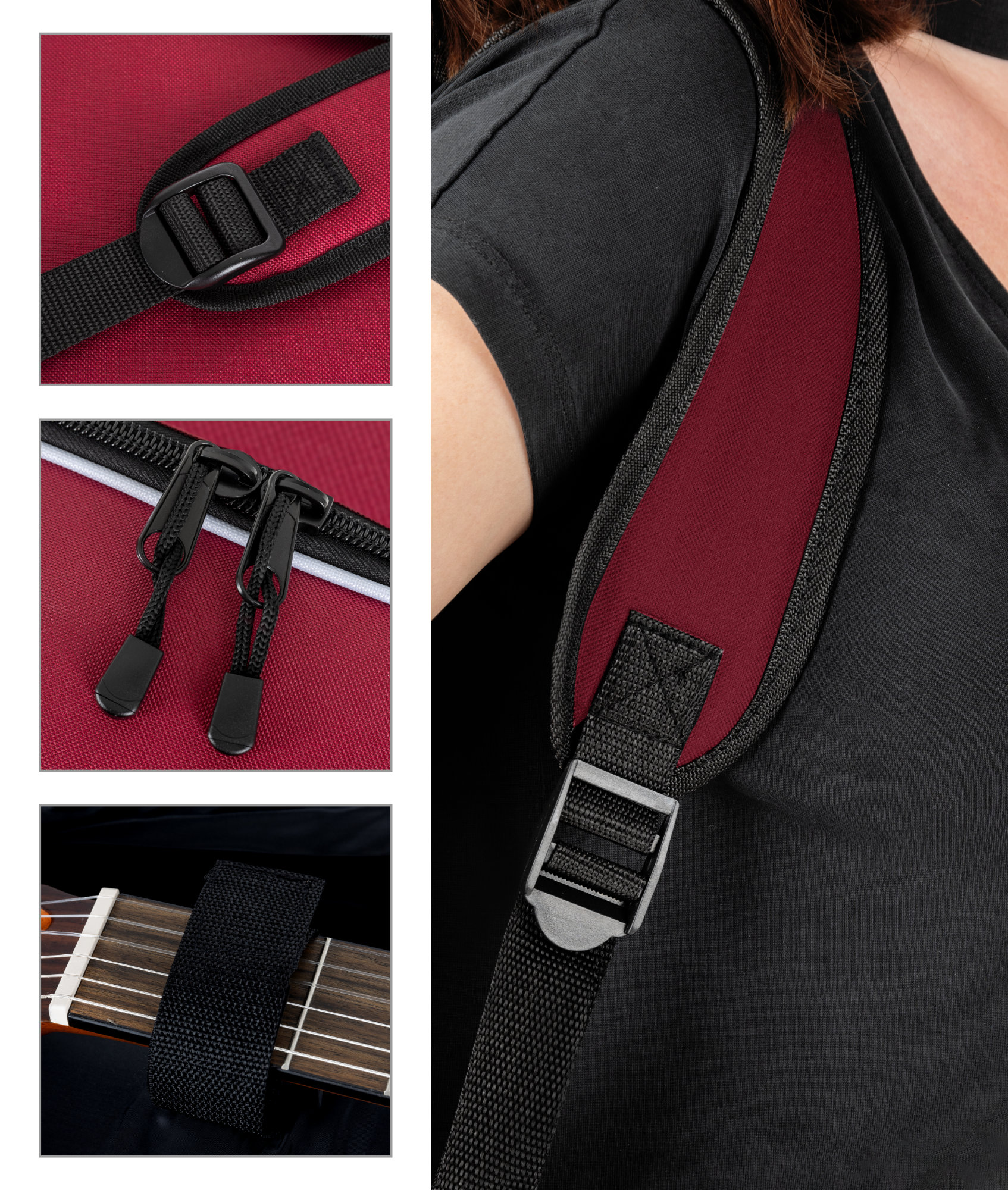 Housse etui sac guitare classique acoustique rembourre for Housse guitare acoustique