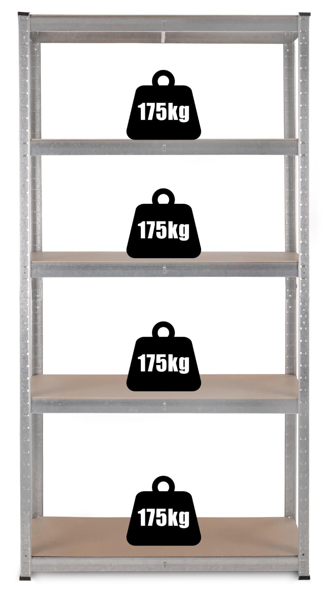Stagecaptain hr 175 heavyrack scaffale ripiani in legno for Scantinati in california