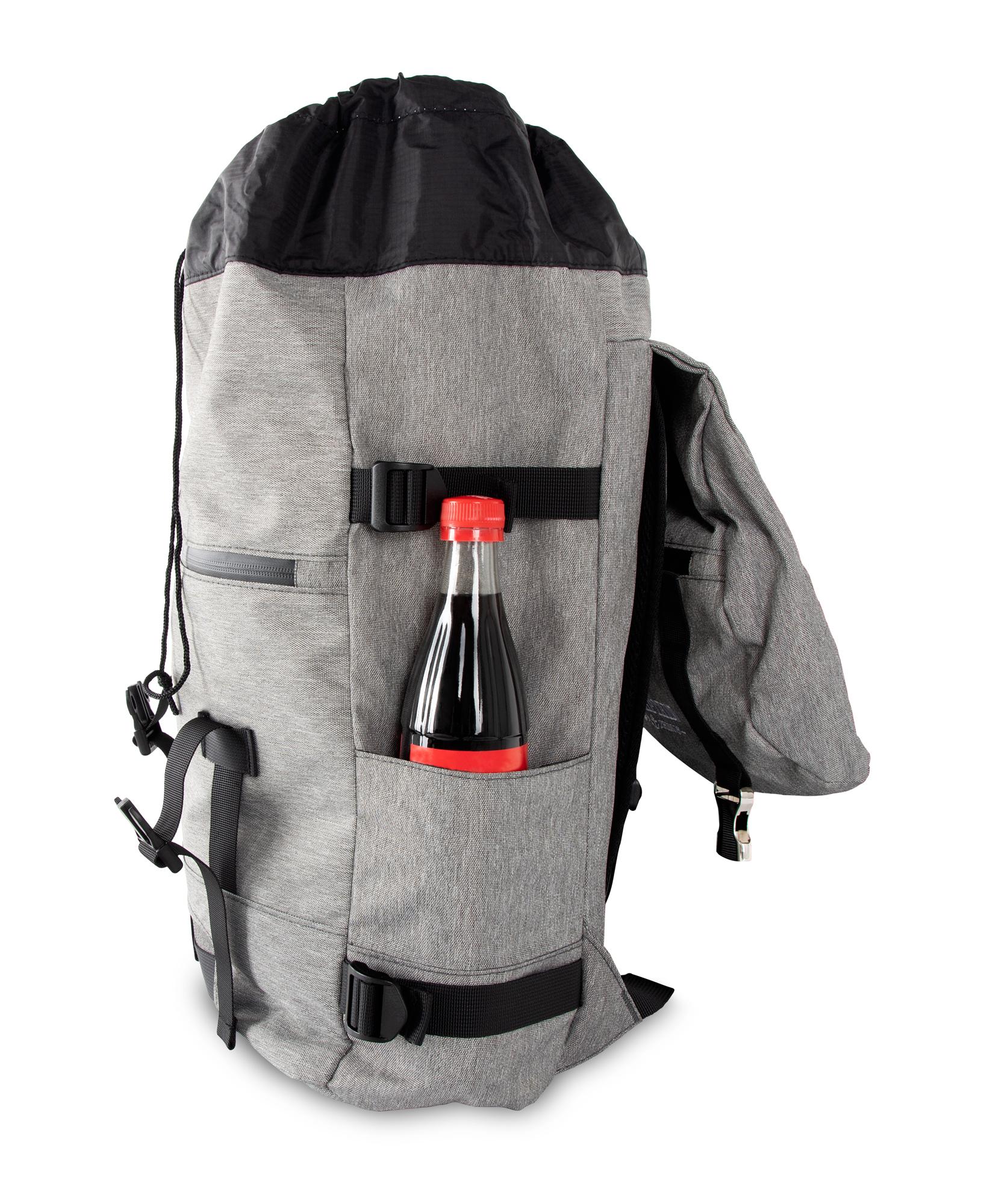 Sac-a-Dos-Backpack-Bandouliere-Ordinateur-Laptop-Ecole-Voyage-Unisexe-Gris miniature 5
