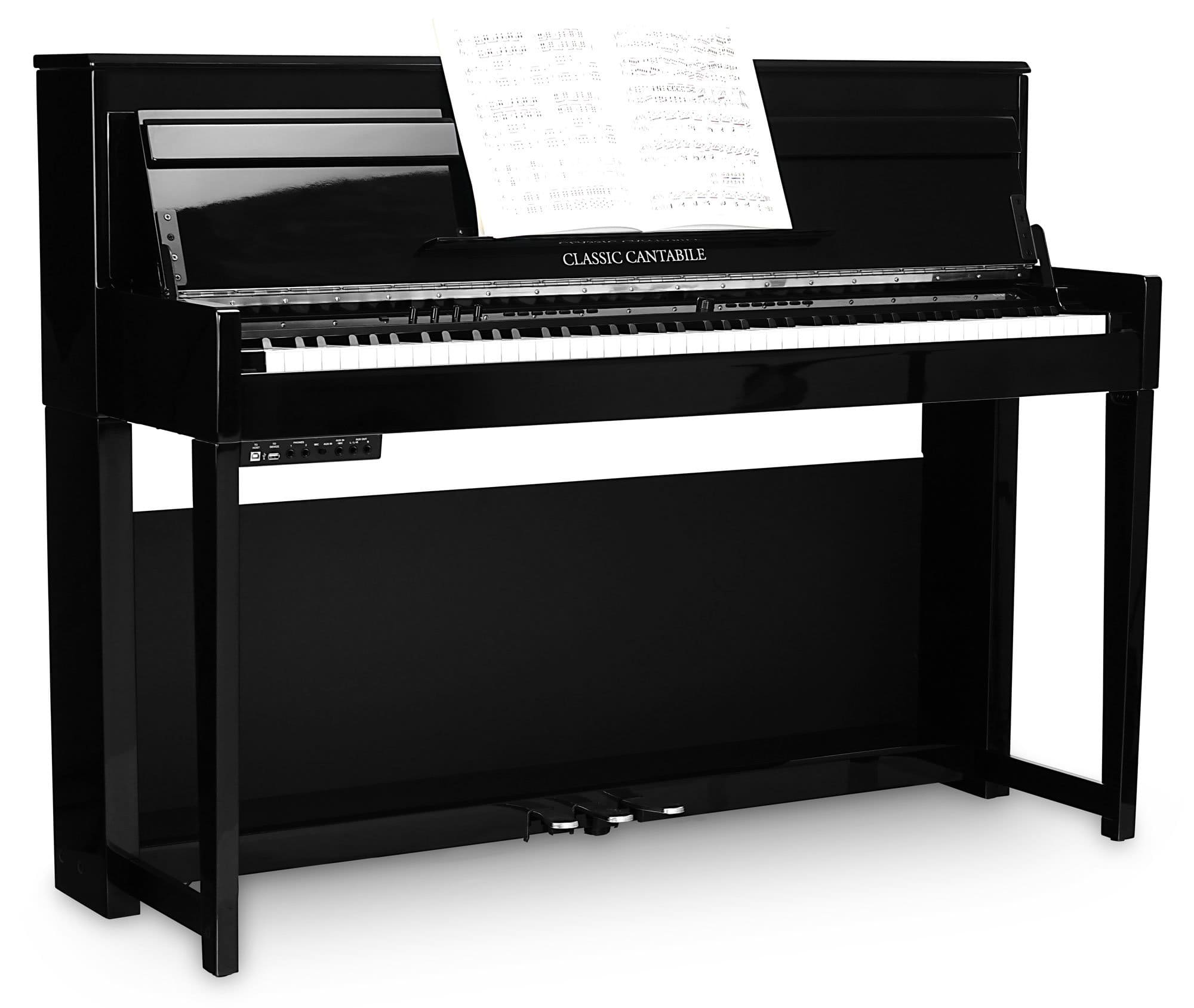 Classic cantabile up 1 sh upright e piano black high gloss for Classic house piano