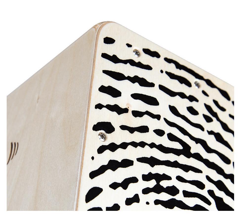 Rucksack Tasche und Sitzpad Schlagwerk Cajon X-One CP-107 Fingerprint inkl Cajóns Drums, percussie