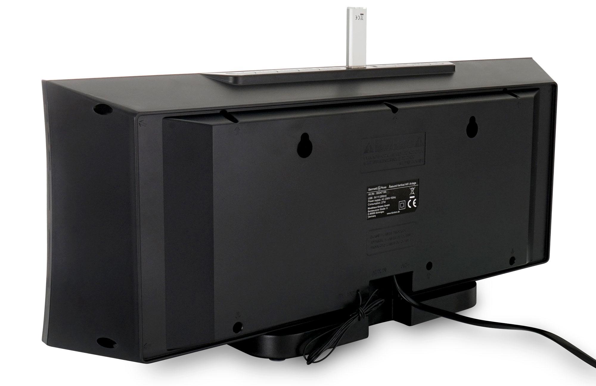 bennett ross lesund vertikal stereoanlage mit cd mp3. Black Bedroom Furniture Sets. Home Design Ideas
