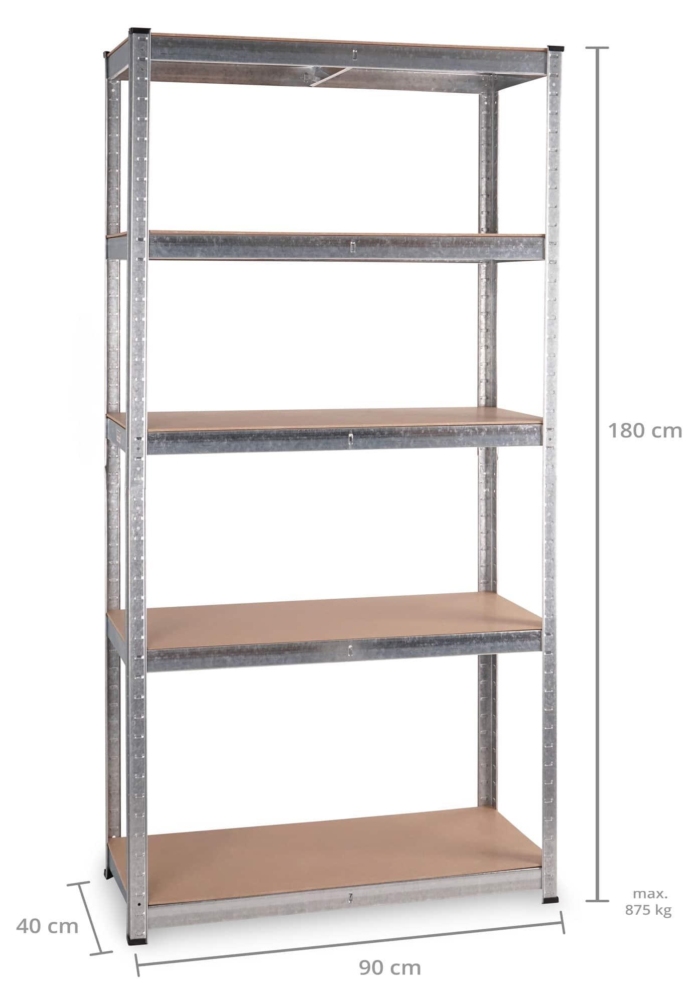 Stagecaptain heavyrack scaffale ripiani in legno max 875 for Scantinati in california