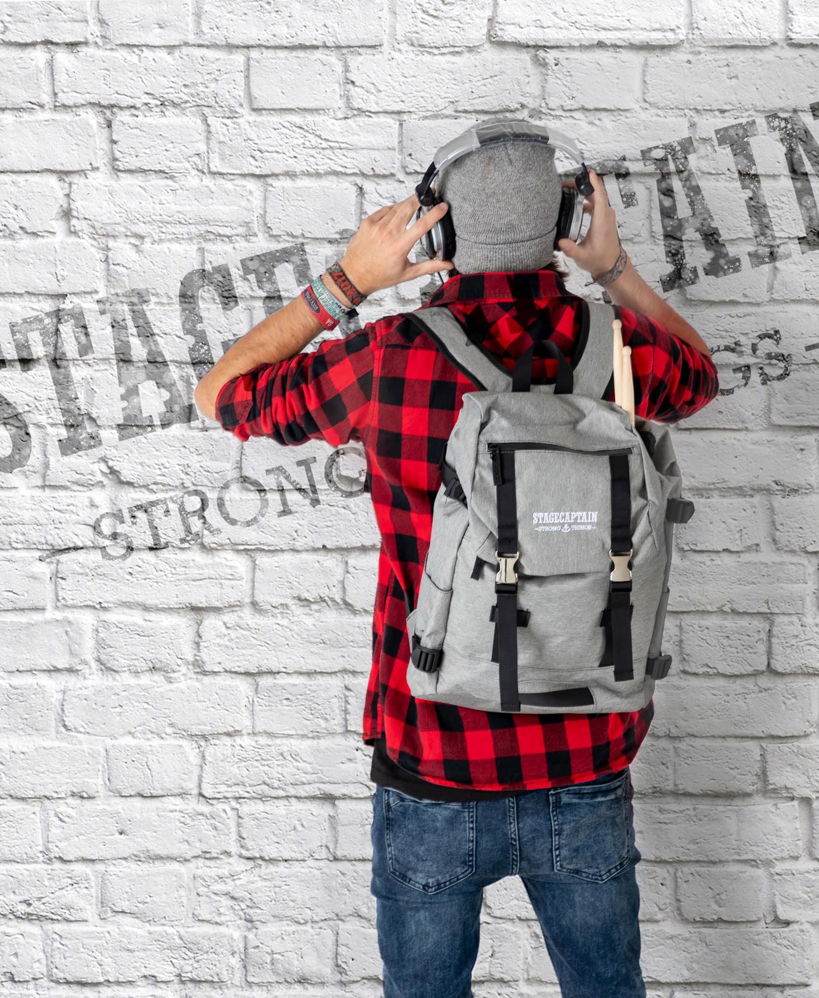 Sac-a-Dos-Backpack-Bandouliere-Ordinateur-Laptop-Ecole-Voyage-Unisexe-Gris miniature 8