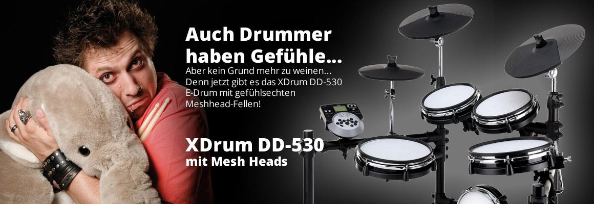 XDrum DD-530 E-Drum mit Meshhead Fellen