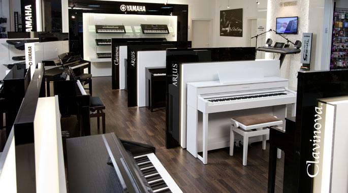 Das Musikhaus Kirstein hat eine riesengroße Auswahl an Pianos.