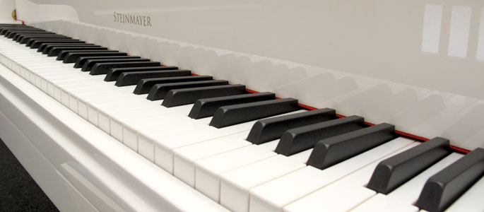 Abteilung Tasten im Musikhaus Kirstein.